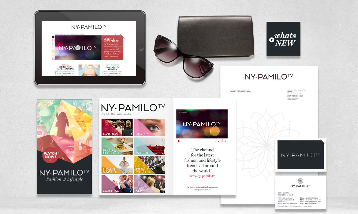 NY-PAMILO TV Corporate design Jungle Graphic