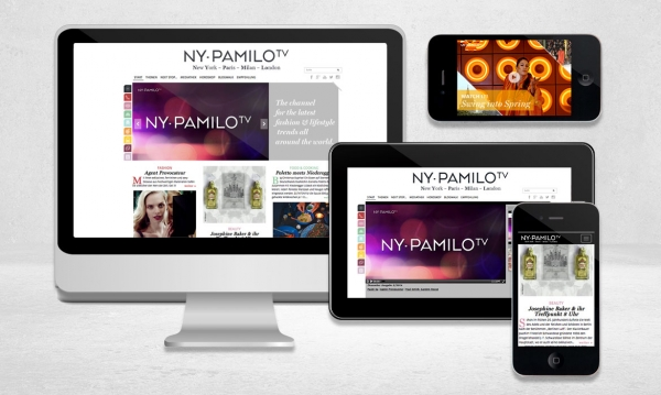 NY-PAMILO TV Webdesign Jungle Graphic