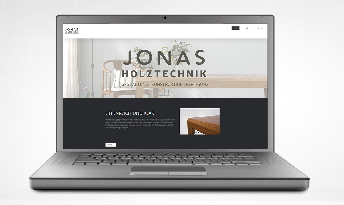JONAS HOLZTECHNIK Webdesign Jungle Graphic